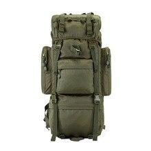 65L Support Métallique Hommes Sac À Dos Multi-fonction Étanche Sac En Nylon Camouflage Pack Tactique Sac À Dos