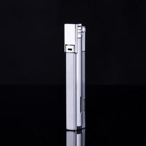 Image 3 - Compact Jet Lighter Gas Torch Turbo Flint Lighter Strip Windproof Metal Cigar Lighter 1300 C Butane Lighter Gadgets For Man