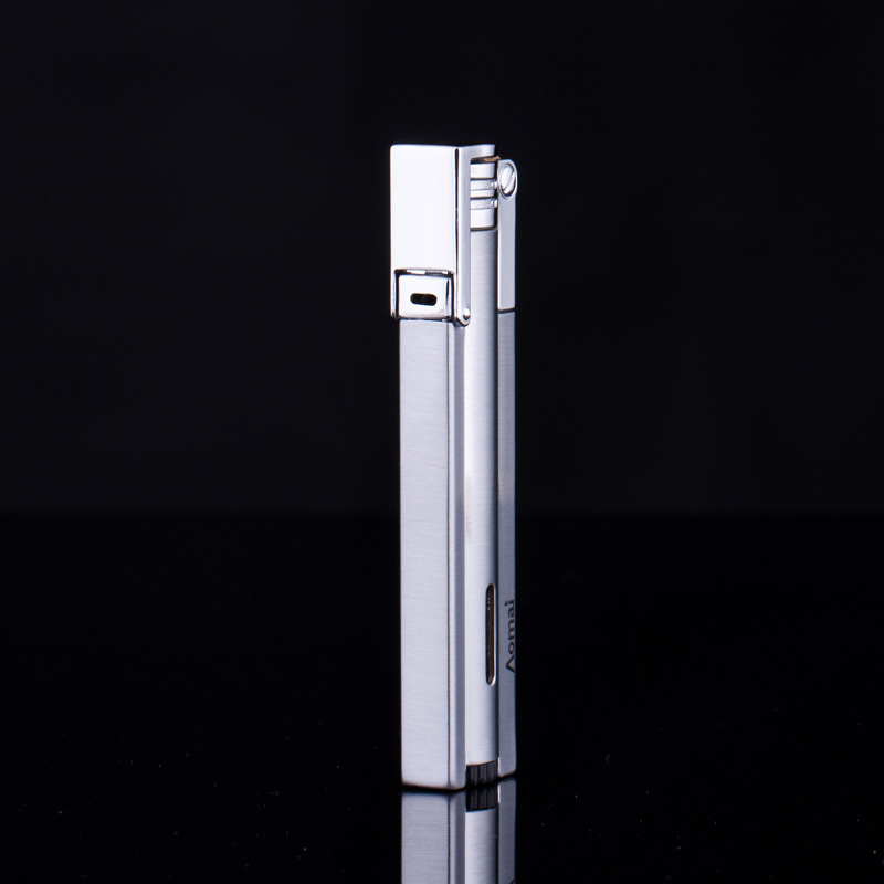 Image 3 - Free Shipping Compact Jet Lighter Gas Torch Turbo Lighter Strip Windproof Metal Cigar Lighter 1300 C Butane Lighter No Gas-in Matches from Home & Garden