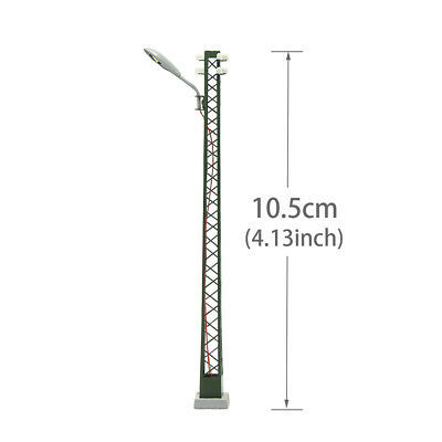 LQS59HO 3pcs Model Railway lights Lattice Mast lamp Track light HO Scale Layout 6