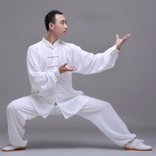 Unisex Quality cotton+silk Tai Chi Suit men women child uniform martial art kung fu clothes gift China Exercise WuShu costume стоимость