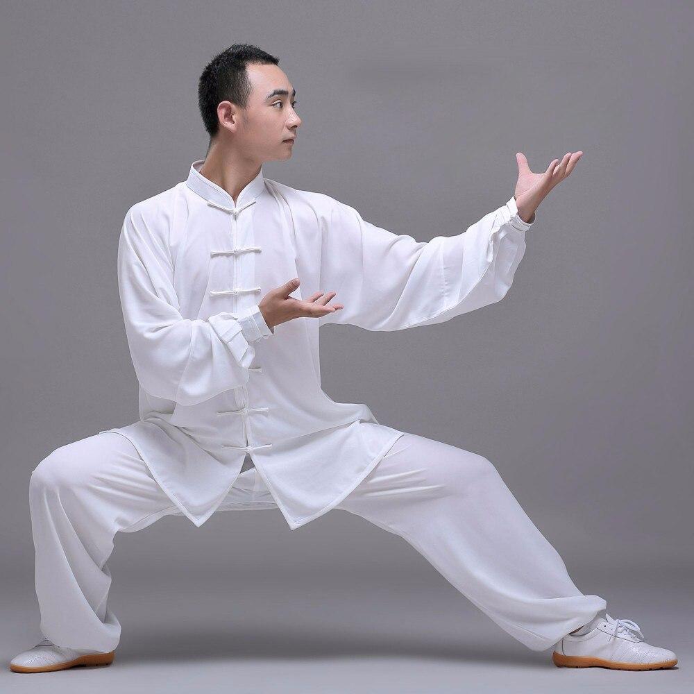 Unisexe qualité coton + soie Tai Chi costume hommes femmes enfant uniforme art martial kung fu vêtements cadeau chine exercice WuShu costume