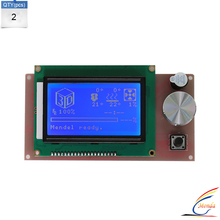 2Pcs/Lot 3D printer Parts controller RAMPS 1.4 LCD 12864 control panel blue screen Use For Anet A6 12864 LCD Screen display
