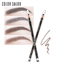 Color Salon Pro Eyebrow Pencil For Eye Brows Smooth Waterproof Long-lasting Smudge-proof Quick-dry Makeup Draw Easy