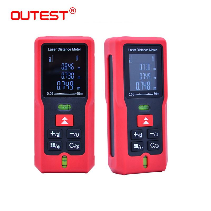 OUTEST Laser Rangefinder Digital Laser Distance Meter 40/60/80/100m Laser Tape Measure Diastimeter Test Tool Single Measurement