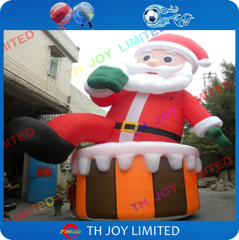 6m20ft outdoor giant inflatable christmaslowes christmas inflatables inflatable santa claus decorations - Lowes Inflatables