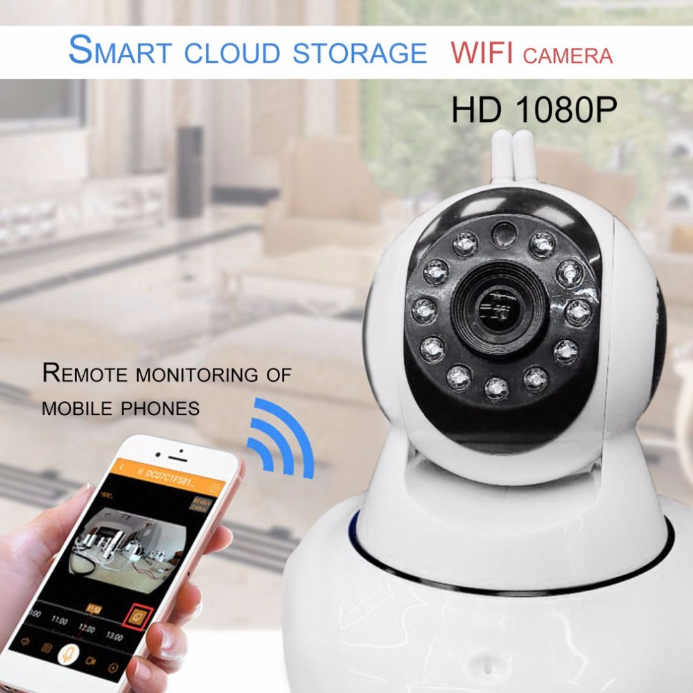 1080P HD Wireless IP Camera dome Security camera wifi Remote Control Indoor home Surveillance camera System smart Monitor