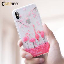 CASEIER Phone Case For iPhone X XS 8 7 6 6s Plus Chic Rhinestone Silicone Case For iPhone 7 8 6 6s Plus 5s SE Funda Couque Cases цена и фото