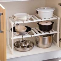 Feiqoing High Quality Telescopic Kitchen Storage Rack Multi function Adjustable Sink Organizer Desktop Sundries Stand Holder New