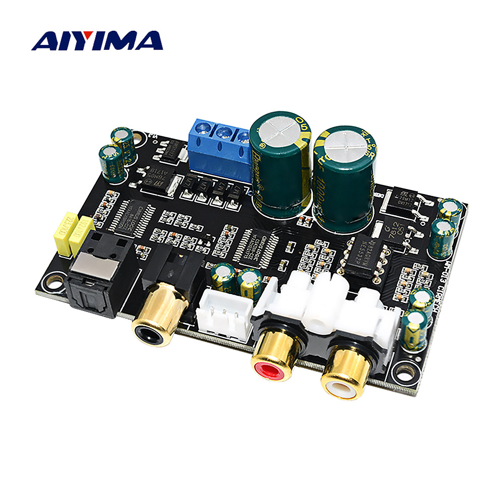 AIYIMA HIFI Fever High Fidelity CS4398 CS8416 Coaxial Optical Audio Decoder DAC MP3 Decoding Board DIY For Power Amplifiers