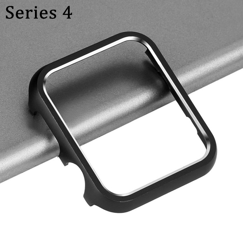 Watches Band Accessories Cover Case Aluminum For Apple Watch Series 4 40mm 44mm Watch Protective Metal Bumper Shell Cases 40 44 new aluminum metal protective frame bumper case cover for iphone 5s 5