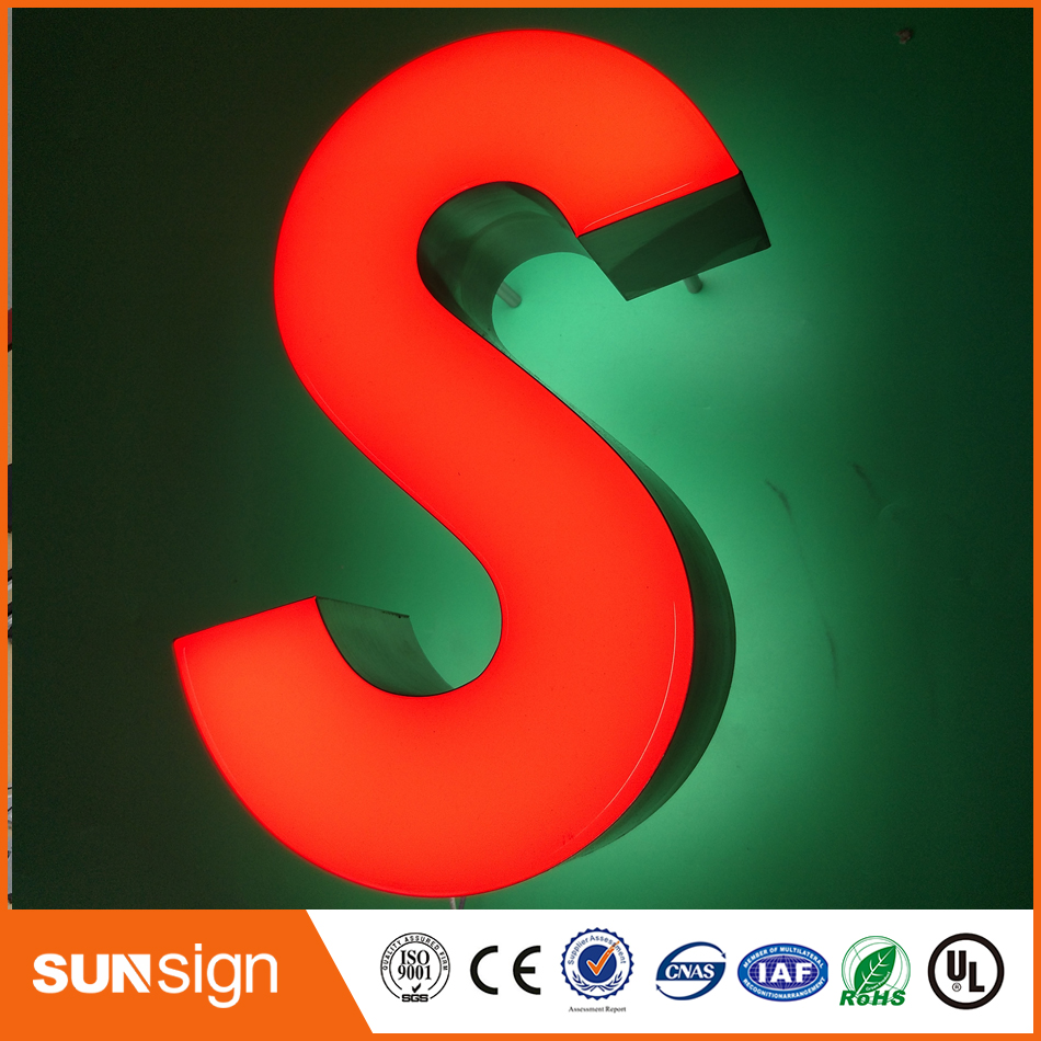 Illuminated Advertising Frontlit Resin Led Letters And Signs