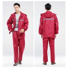 Split raincoat rain pants suit adult reflective motorcycle aviation labor insurance sanitation site