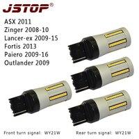 JSTOP 4pcs Set Outlander Super Bright Yellow WY21W 7440 12 24VAC 66smd Lights No Hyper Flash