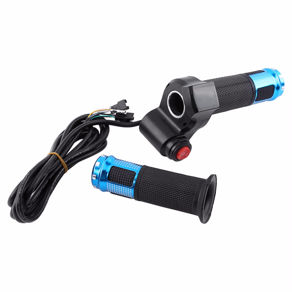 Electric Bike Twist Throttle E-Bike Bicycle 12-94V Grip Speed Throttle Ebike Full Bar 7 Wires Accelerator with display