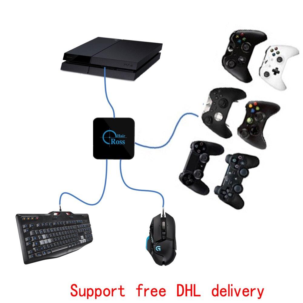 Перекрестие Мышь клавиатура конвертер крест волос адаптер для коммутатора НС для PS4 Slim/PS3/для XBox ONE