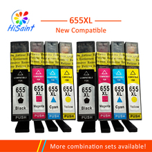 Hisaint Compatible Ink Cartridge for HP 655 for hp655  Replacemen for HP deskjet 3525 5525 4615 4625 4525 6520 6525 Printer 2pcs alzenit oem new for hp ce 250 260 3525 4525 roller cleaning blade printer parts