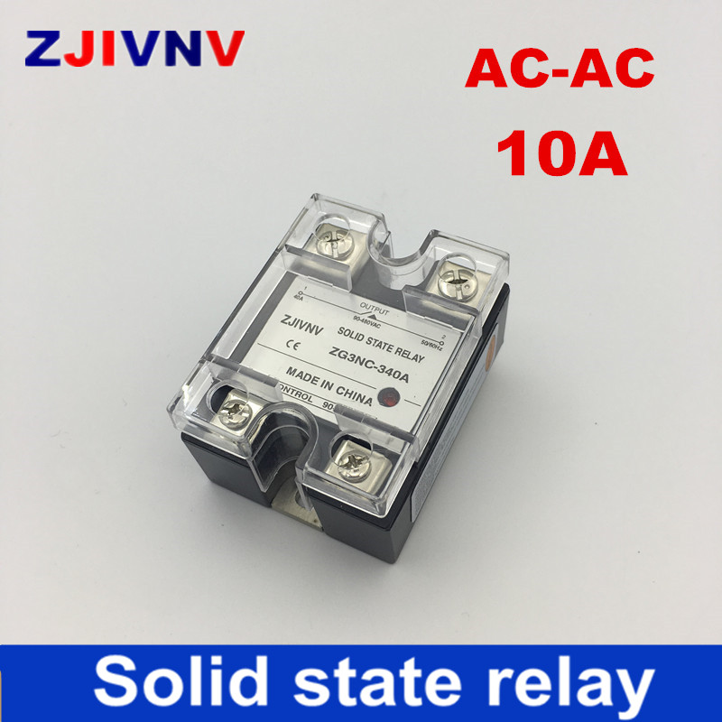 New 10A single phase 90-480VAC control 80~250VAC voltage AC Solid state relay ssr type ZG3NC-310A 1 phaseNew 10A single phase 90-480VAC control 80~250VAC voltage AC Solid state relay ssr type ZG3NC-310A 1 phase