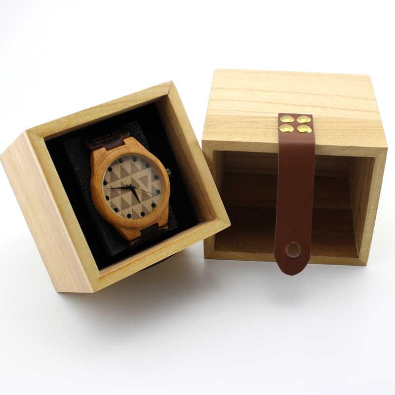 Caja de reloj de madera maciza Zakka colores principales caja de madera caja cuadrada de alta calidad caja de almacenamiento, colores de madera disponibles