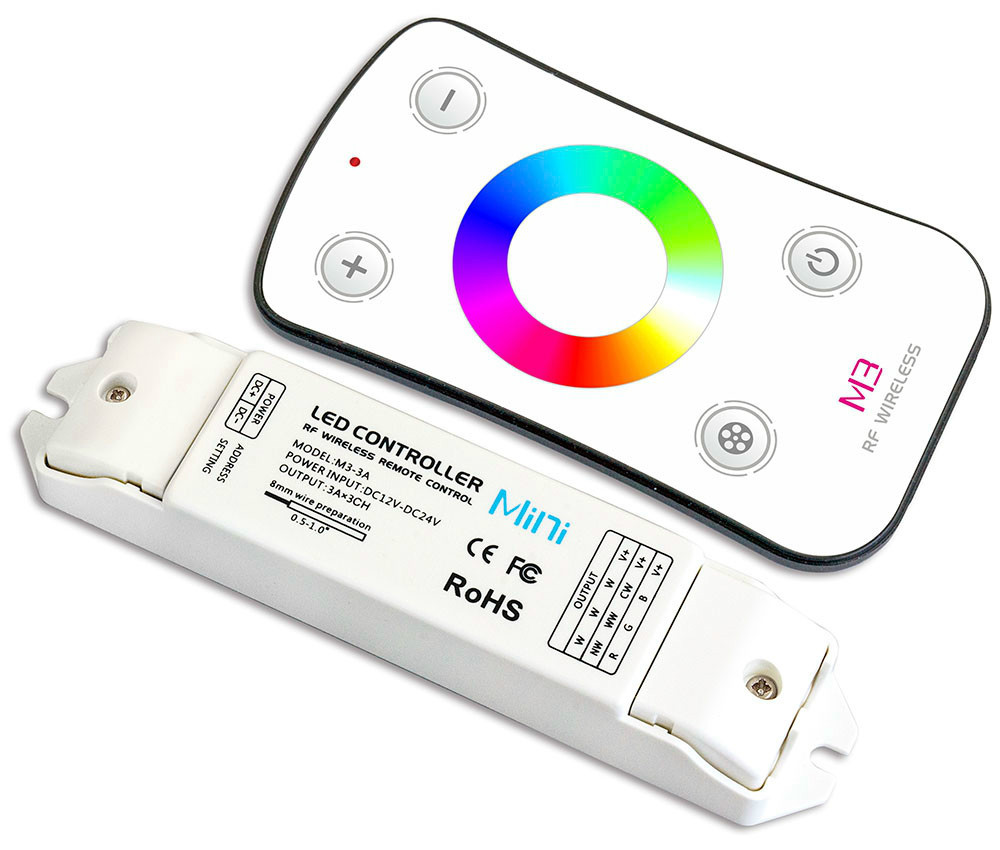 M3+M4-5A;M3 touch remote with M4-5A CV Receiving controller;DC5V-DC24V input;5A*4CH Max 20A output m3 m4 5a m3 touch rf remote with m4 5a cv receiver led dimmer controller dc5v dc24v input 5a 4ch max 20a output