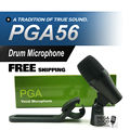 FreeShipping! PGA56 Professional Tom Snare Drum Instrument Dynamic Microphone PGA Sound System For Stage Show Studio New Boxed!!