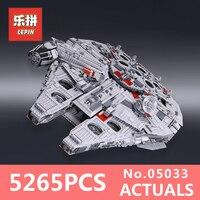 LEPIN 05033 5265Pcs Star Wars Ultimate Collector S Millennium Falcon Model Building Kit Blocks Bricks DIY