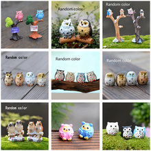 1 Pcs Cute Cartoon Owl Micro Landscape Animal Resin DIY Gard