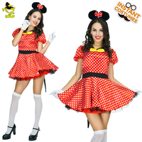 Woman Mikey Mouse Costume Deluxe Carnival Party Role Play Cartoon Outfits Women Halloween Cosplay Cute Mouse Girl Suit Costumes