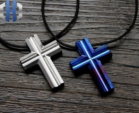 CNC Titanium Making Cross Necklace Pendant Jewelry Pendant EDC Beads