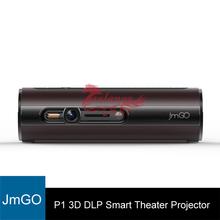 Original JmGO P1 3D DLP Projector Portable Pocket Smart Theater Support 1080P Hi-Fi Bluetooth WIFI Android Proyector Beamer