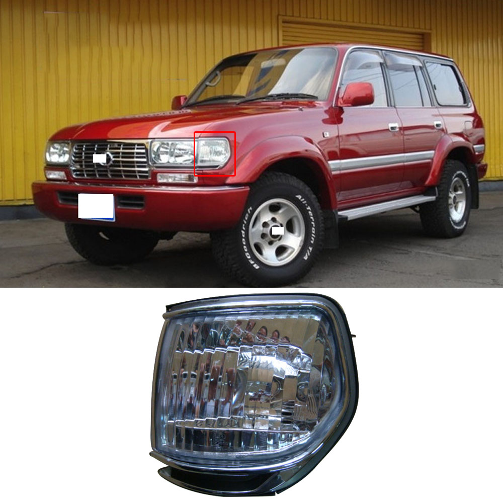 CAPQX 1pcs For Toyota Land Cruiser LC80 FZJ80 4500 95-97 Front Headlight Side Fender Light Corner Turn Signal Light Marker Lamp