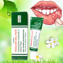 Thailand 100% original ulcer gel TRINOLONE E ORAL PASTE Herbal Oral Antibacterial Gel Natural Essence Ulcer Inflammation