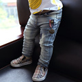 1-4Y 2016 Ripped jeans for kids toddler jeans baby boys ripped denim jeans children fashion jeans for boys casual denim pants