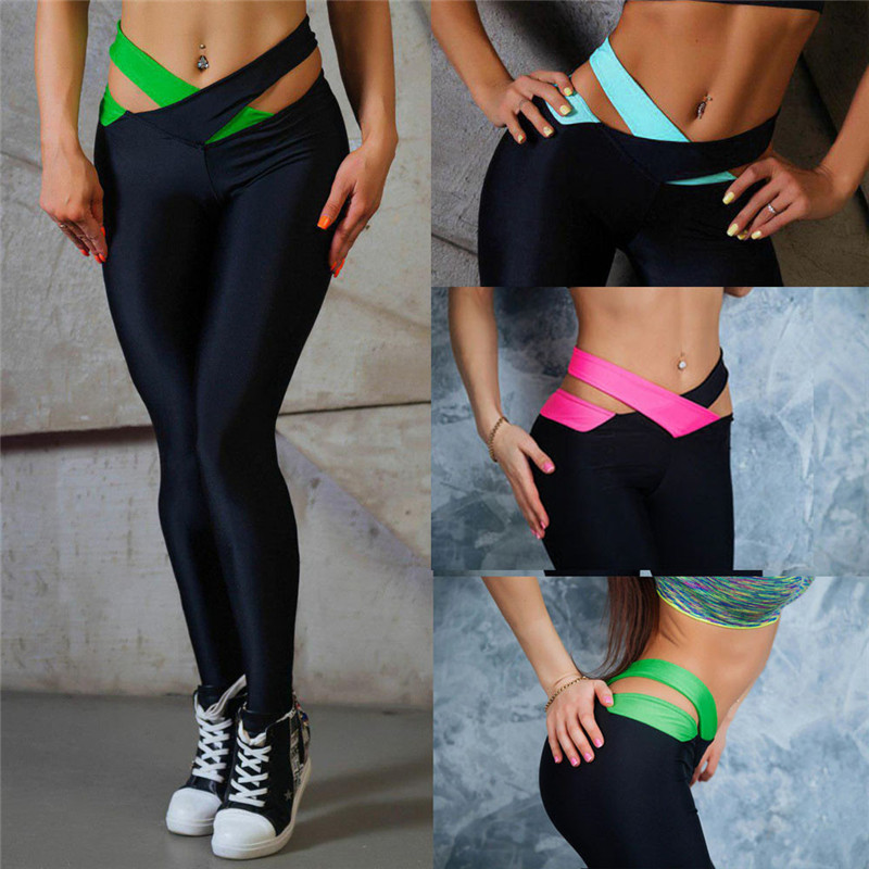 Cross Band Belt women yoga pants sexy skinny legging long leggings tie waist design gym fitness sports lady running trousers self tie solid skinny pants