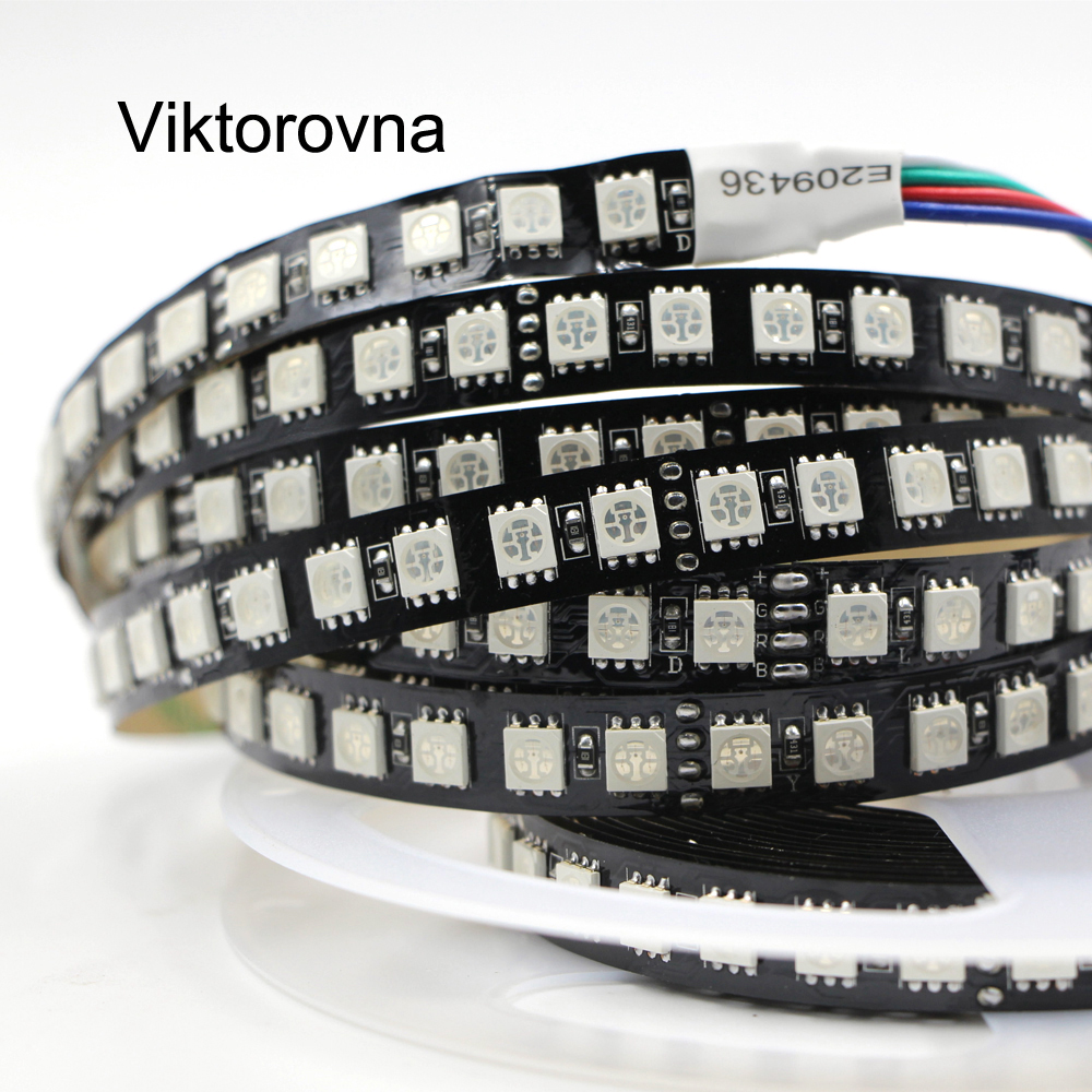 5050 SMD LED Strip Light 24V 12v Flexible Light 120LED/m 5m 600LED black PCB Non Waterproof Led RGB white ribbon Tape lamp 72w 3600lm 6500k 300 5050 smd led white light lamp strip w rf dimmer black white yellow 5m