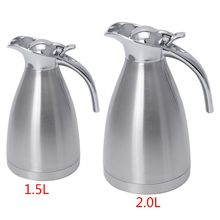 Stainless Steel Vacuum Insulation Pot Hot Water Kettle Thermo Jug 1.5L 2.0L