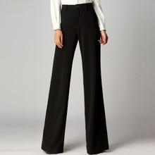 2019 nuevos pantalones de pierna ancha de primavera de las mujeres pantalones de cintura alta recto otoño sensación Otoño e Invierno Pantalones de las mujeres plus tamaño