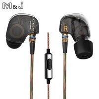Original KZ ATE S Copper Driver HiFi Sport Headphones In Ear Earphone For Running With Foam