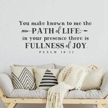 Psalm 15 11 Bibel Vers Spanisch vinyl wand aufkleber Christian wohnzimmer schlafzimmer wand aufkleber dekorative tapete 2SJ10