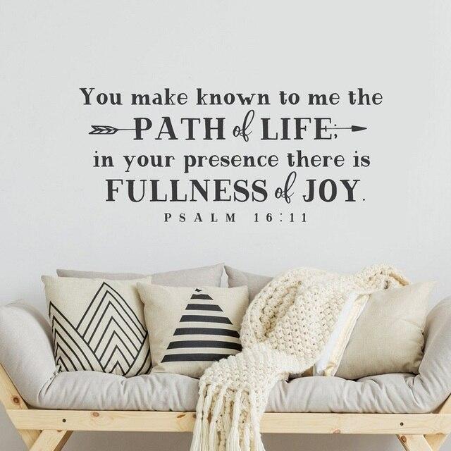 Psalm 15 11 Библейские стихи испанские виниловые наклейки на стену христианские настенные наклейки для гостиной спальни декоративные обои 2SJ10