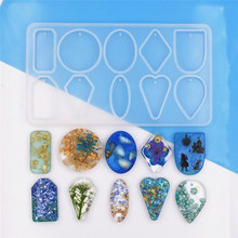 1 PC SNASAN Silicone Mold for jewelry pendant with hole Resin Mould Crafts Jewelry Making charms epoxy resin molds