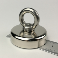 1pcs 113KG Magnetic Pull Force Neodymium Recovery Fishing Detecting Magnet Pot With A Eyebolt Holding Fixture