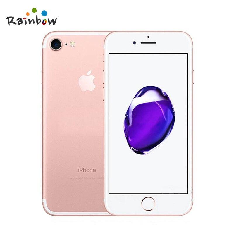 Apple iphone 7 original ios 2gb ram, câmera de 12.0mp e vídeo em 4k, 4g lte com id de toque de impressão digital 6