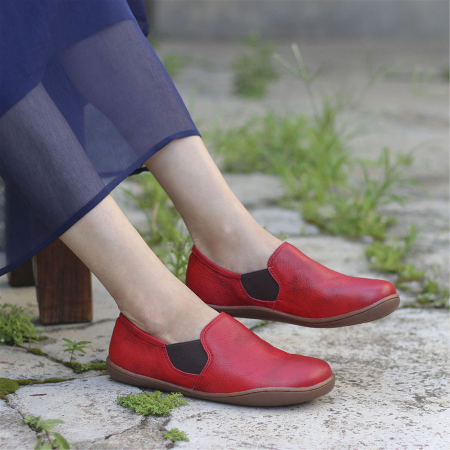 Genuine leather Women flat shoes barefoot Casual Shoes woman Flats ballerinas sneakers Female Footwear shoes 2019