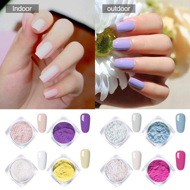 Modelones 1g Sunlight Sensitive Changing Color Nail Powder Uv Light Photochromic Pigment For Gel