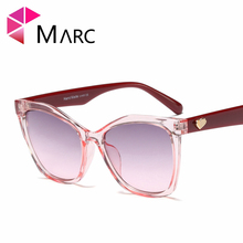 MARC Vintage Cat Eye Sunglasses Women Fashion Designer Transparent Female Retro Cateyes Eyeglasses Leopard Black