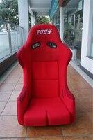 One Lot 2 Pcs Buckets Series Car Seats MRH Fiberglass Frame Black Blue Red Alcantara Suede