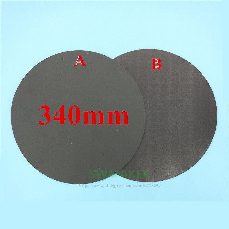 Impresión magnética de la cinta de la cama de la impresión de la etiqueta redonda 340mm de la placa de construcción de la placa flexible de la actualización para la impresora 3D tevo little monster