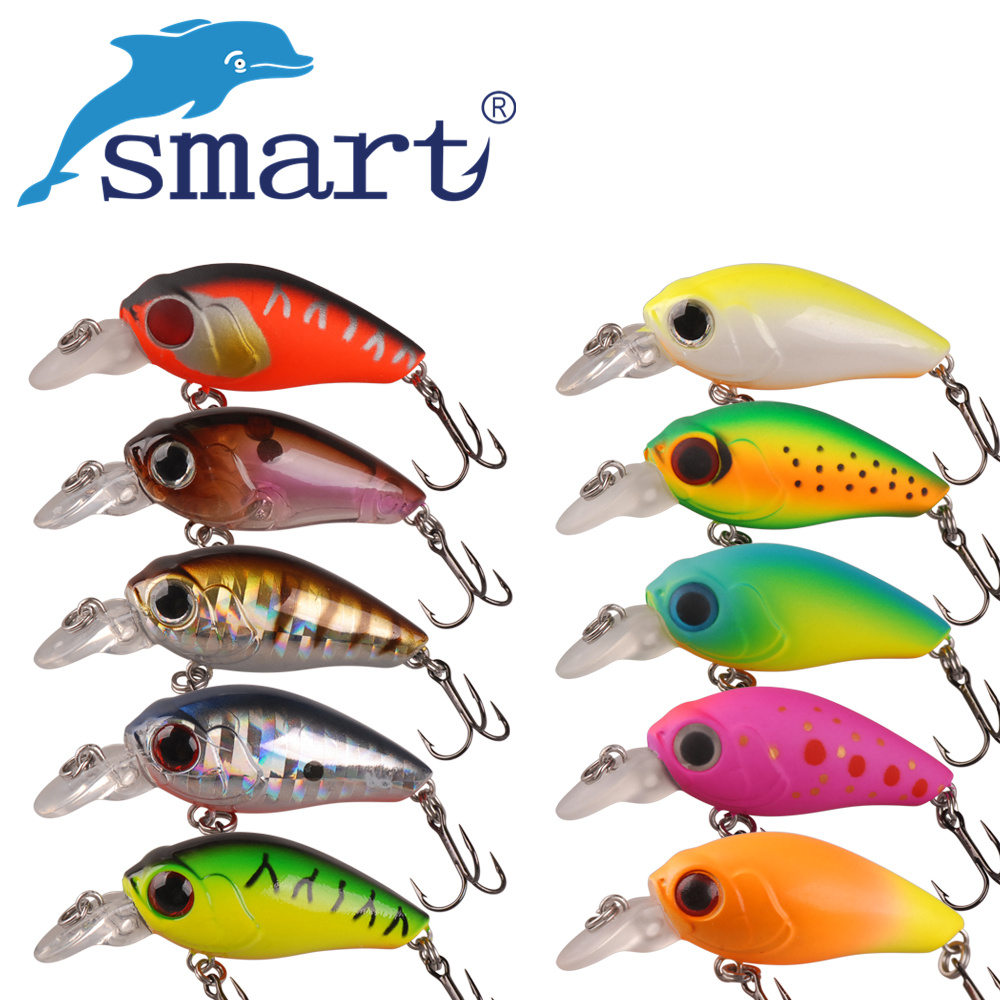 Smart Mini Crankbait Hard Fishing Lure 35mm/3.5g Fake Lures Hard Baits Isca Artificial Para Pesca Fishing Wobblers Kunstaas amlucas minnow fishing lure 110mm 9 5g crankbait wobblers artificial hard baits pesca carp fishing tackle peche we266