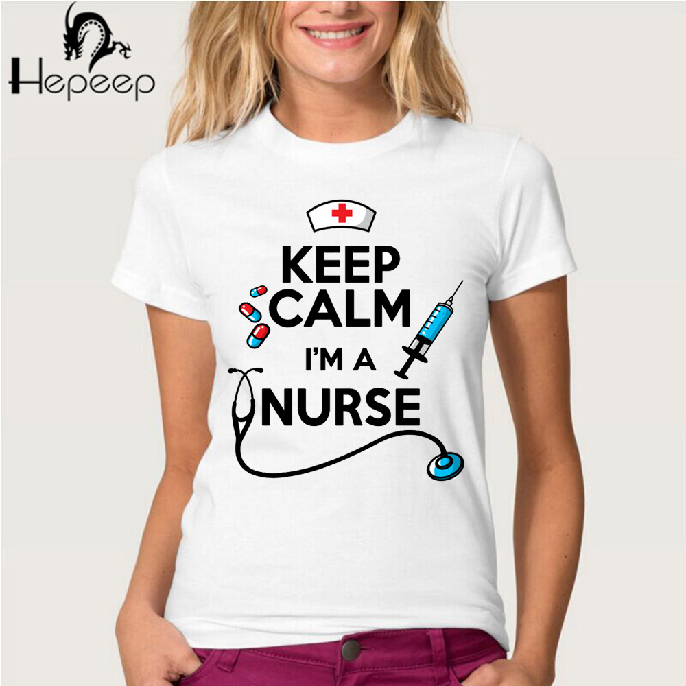 Design t shirt keep calm - Hepeep Brand 2017 Newest Summer Women S T Shirt Keep Calm I M A Nurse